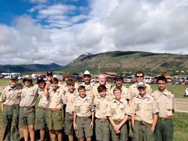 Boy Scouts hike