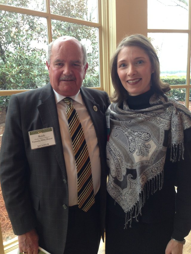 FEB VV Chamber Recap pic 3 - Mayor Butch Zaragoza with newly installed Chamber Chair Angie McEwen.jpg