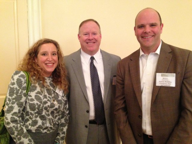 FEB VV Chamber Recap pic 2 -LeArden Pike, ELM Construction, Jeff Downes, City Manager for the City of Vestavia Hills, and Blaine House, Murray Building.jpg