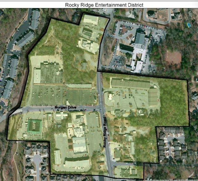 Rocky Ridge Entertainment District map