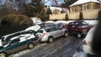Photo by Jeff Thompson Winter Storm Leon Cahaba Road A nine-car pileup is blocking Cahaba Road.