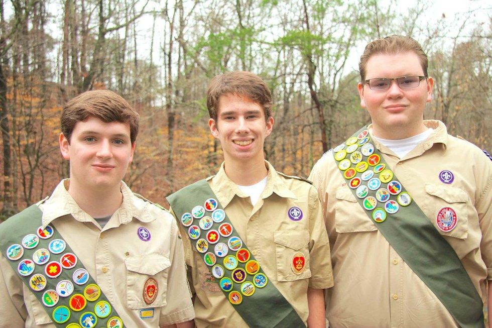 Matt The Scout Boy Credits Version 2: Boy Scout Troop 4 Scores A Triple-play